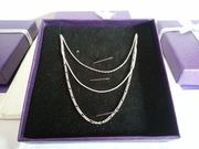 """Set of 3 Sterling Silver 18"""" Necklaces"""