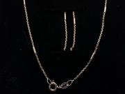 """Gold Plated Sterling Silver 18"""" Necklace"""